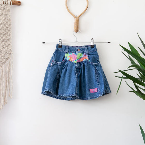 Vintage Denim Skirt | 4-5Y