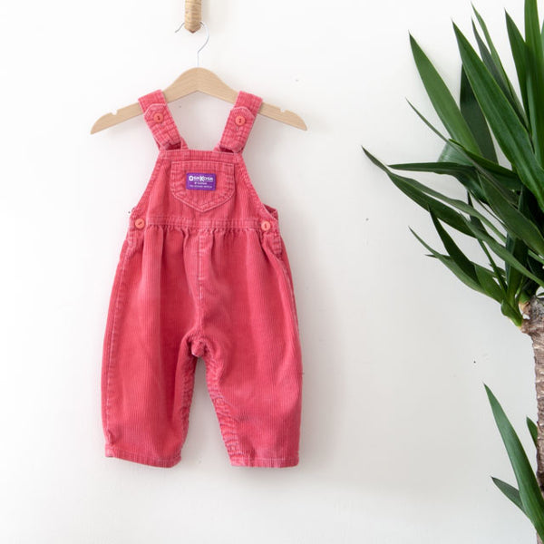 Vintage Bow Corduroy Dungarees | 6-9M