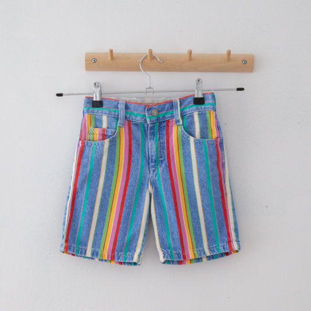 Vintage Striped Shorts | 6Y