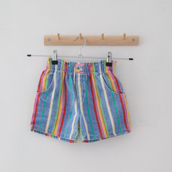 Vintage Striped Shorts | 3Y