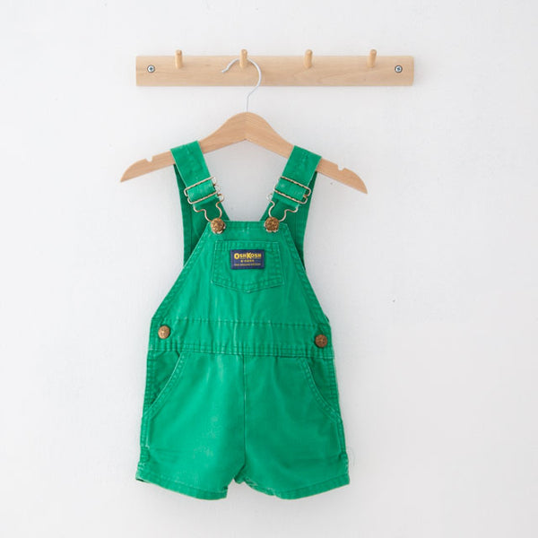 Vintage Green Dungarees Shorts | 18M