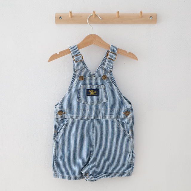Vintage Striped Dungaree Shorts | 18M