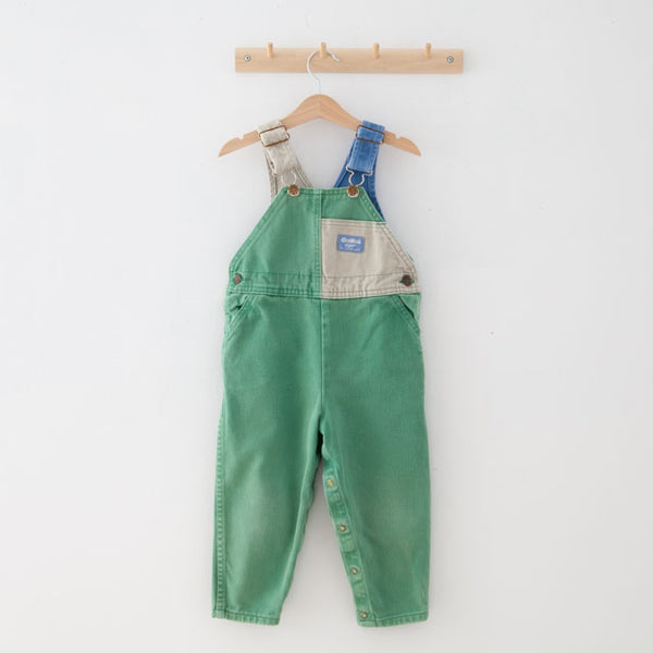 Vintage Colour Block Dungarees | 4Y