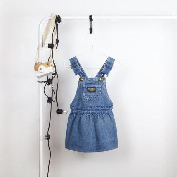 Vintage Dungaree Dress ~ 2Y