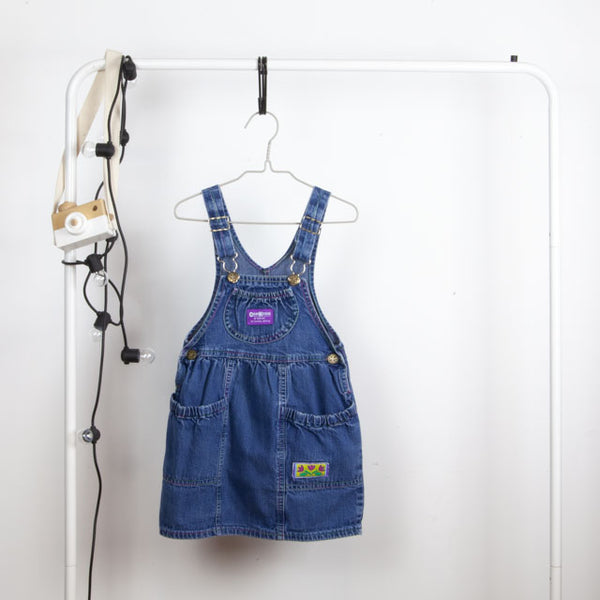 Vintage Dungaree Dress ~ 4Y