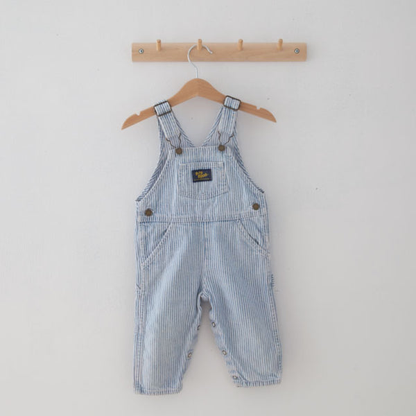 Vintage Striped Dungarees | 12M