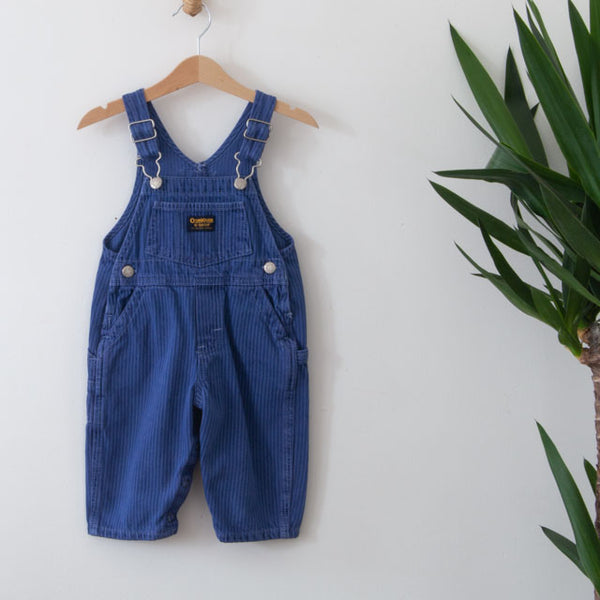 Striped Dungarees | 12M