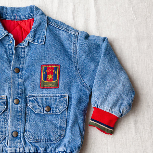 Vintage Denim Quilted Jacket | 6/7Y