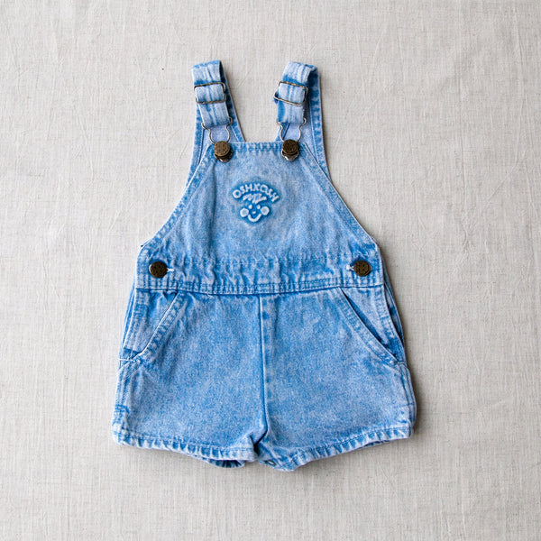 Vintage Acid Wash Dungaree Shorts | 3/9M