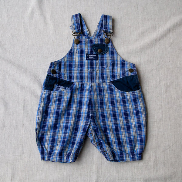 Plaid Dungaree Shorts | 9/12M