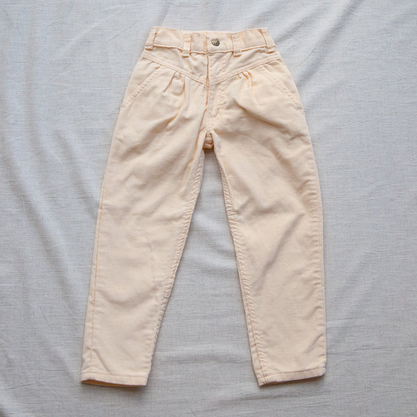 Vintage 80s Corduroy Mom Trousers | 3/4 Years
