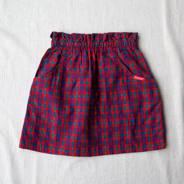 Vintage Apple Plaid Skirt | 4/5 Years