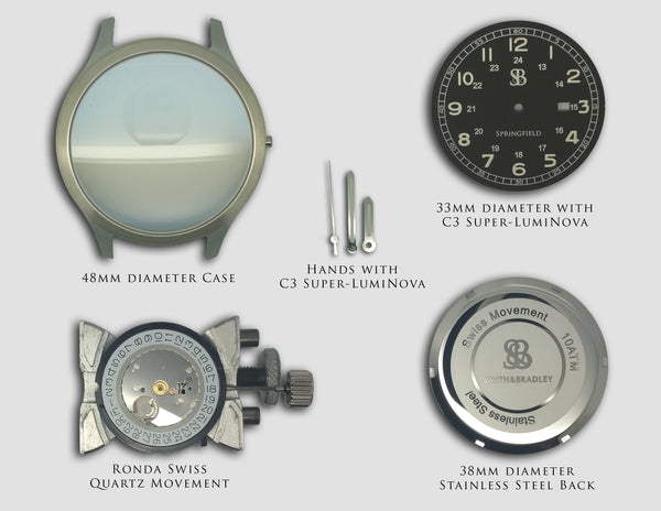 The Springfield watch components