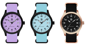 Women tactical outdoors watch. Ladies watch colors in Tiffany blue, Lavender, and rose gold. Designed for the outdoor woman who like a splash of color. Designed in the USA and assembled in the USA