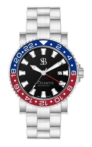 Atlantis® A2 Ceramic Quartz GMT Watch
