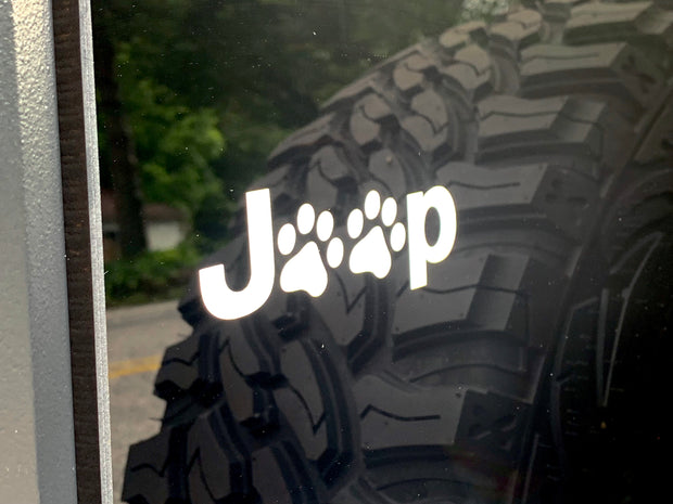Jeep Paws Decal