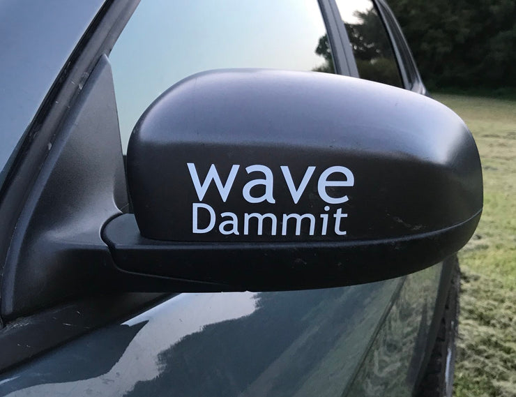 Wave! Decal
