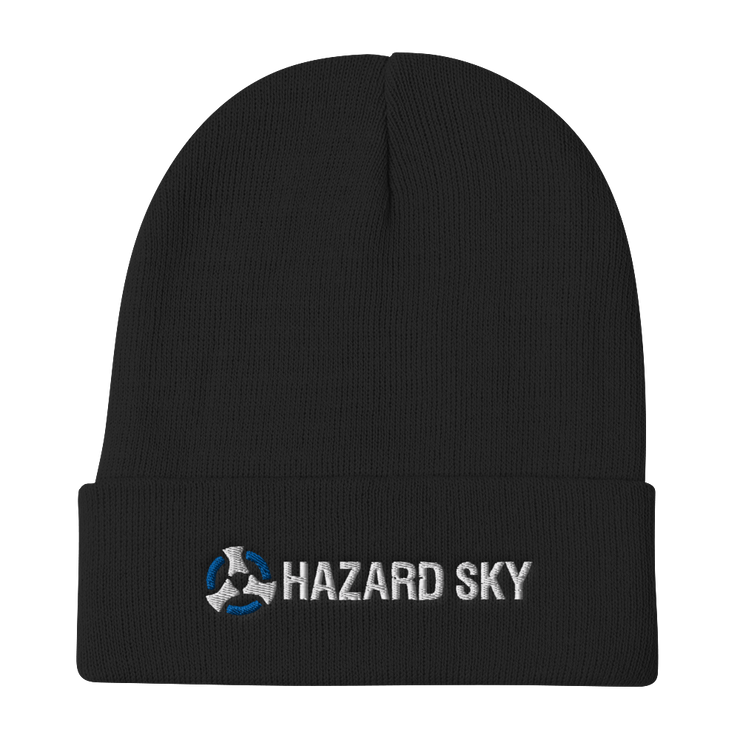 Hazard Sky Embroidered Beanie