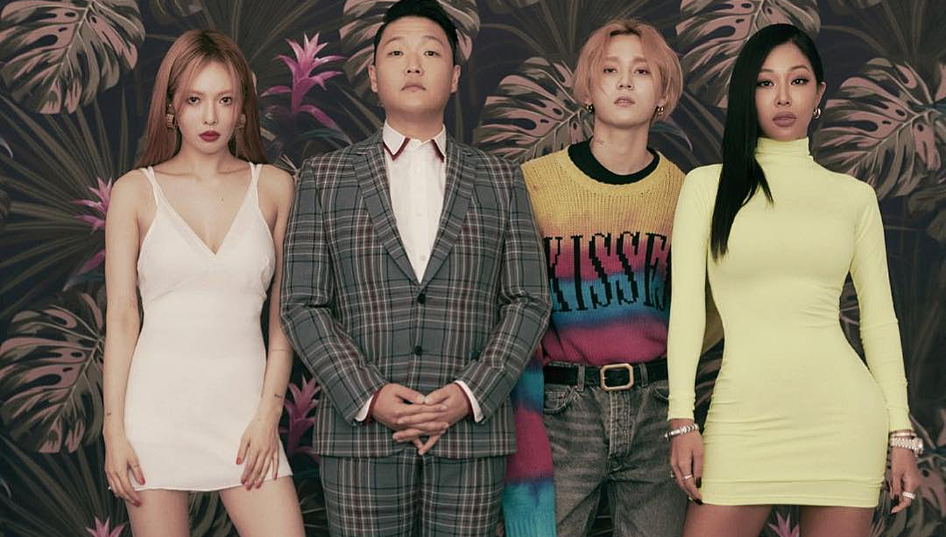 P-NATION unveils new official profile photos of HyunA, Hyojong, Jessi and PSY