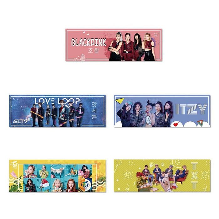 1 Piece Kpop TWICE ITZY BLACKPINK TXT Got7 Concert Support Hand Banner Fabric Hang Up Poster