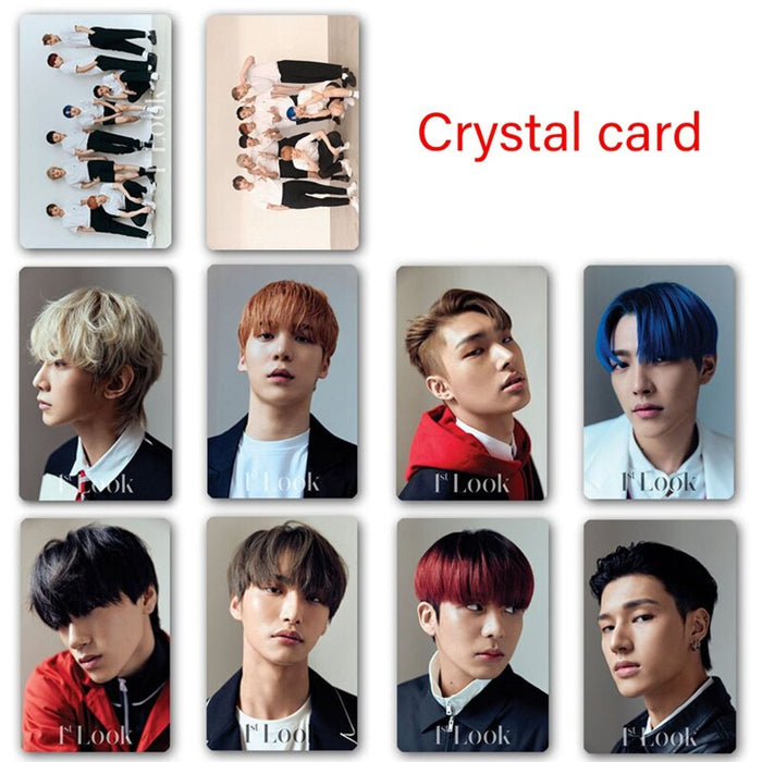 10PCS/Set Kpop ATEEZ HD LOMO Card Stickers Photocard Crystal Photo BUS Card Stickers For Students Fans Gift