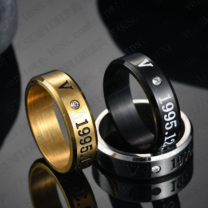 New BTS rings Three Colors Member Name Ring Black Gold Silver High gloss Rings K-pop Bangtan boys stationery set