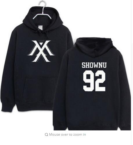 new full MONSTA X kpop same Unisex wool hooded Sweatshirt tshirts Outer k-pop full MONSTA X im hooded - Kpopshop
