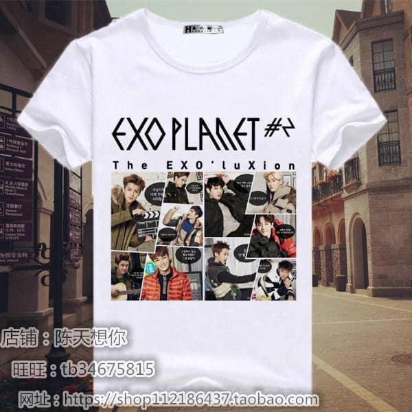 Kpop Newest 2019 kpop new EXO T-Shirt summer Two patrol groups The same paragraph KRIS SEHUN CHANYEOL BAEKHYUN male and female Short-sleeved that you'll fall in love with. At an affordable price at KPOPSHOP, We sell a variety of 2019 kpop new EXO T-Shirt summer Two patrol groups The same paragraph KRIS SEHUN CHANYEOL BAEKHYUN male and female Short-sleeved with Free Shipping.