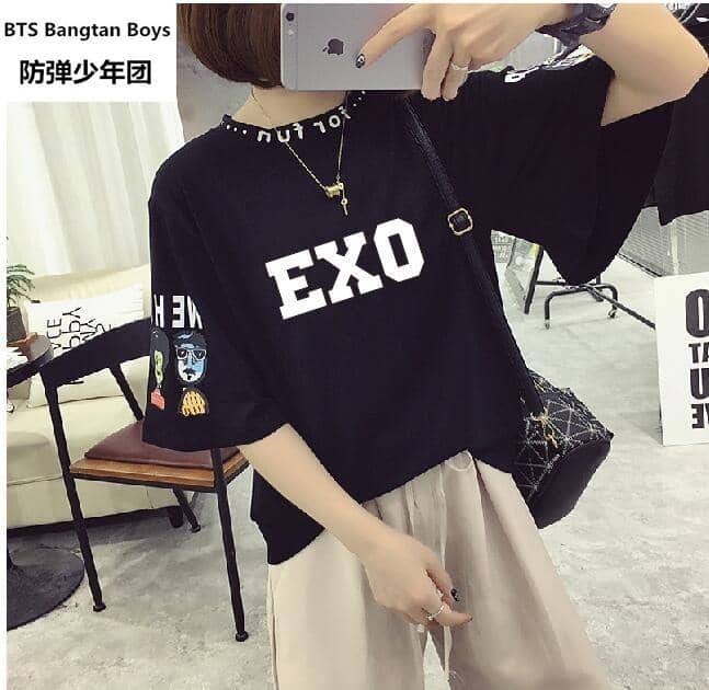 Kpop Newest 2019 new Kpop exo SEHUN  Group Tops T Shirt WomenFashion Design Women T-Shirt Printed tshirt summer exo that you'll fall in love with. At an affordable price at KPOPSHOP, We sell a variety of 2019 new Kpop exo SEHUN  Group Tops T Shirt WomenFashion Design Women T-Shirt Printed tshirt summer exo with Free Shipping.