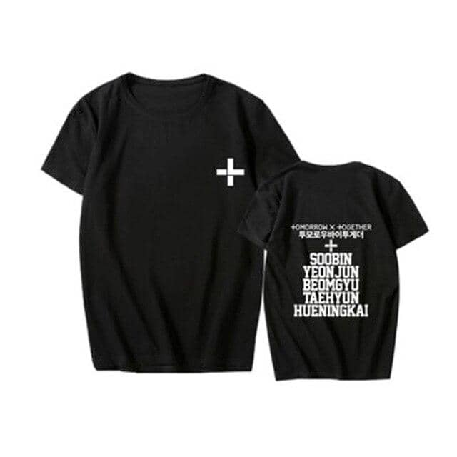 New Kpop TXT Called Tomorrow X Together YEONJUN SOOBINs T Shirts Hip-hop Sleeve T-shirts - Kpopshop