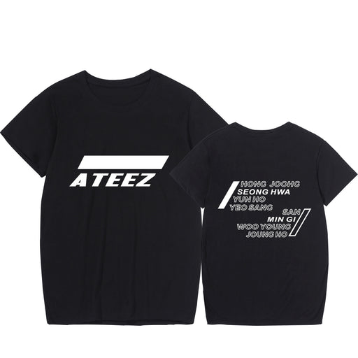 2020 New Pattern Ateez T shirt Korea Hot Group Combine Fashion tshirt Short Sleeve Pity Factory harajuku