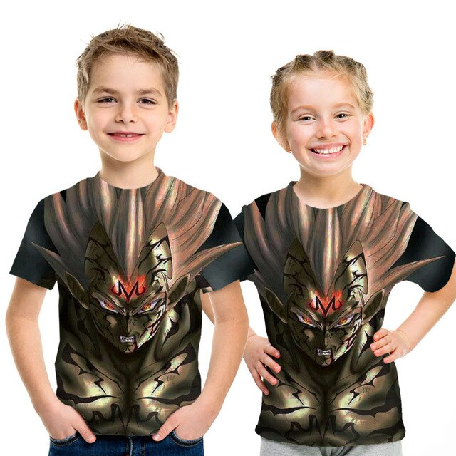 Kids Dragon Ball Z 3D Anime Goku Vegeta T-shirts Dragonball Shirt Super Saiyan Vegeta Children - Kpopshop