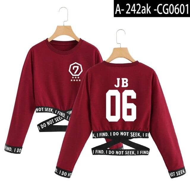 Kpop Newest 2019 got7 T-Shirts Summer kpop T shirt crop top women clothes 2019 korean style women long sleeve Fashion tops streetwear that you'll fall in love with. At an affordable price at KPOPSHOP, We sell a variety of 2019 got7 T-Shirts Summer kpop T shirt crop top women clothes 2019 korean style women long sleeve Fashion tops streetwear with Free Shipping.