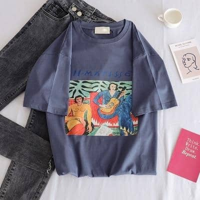 Kpopshop Originals - new women  O-neck chic basic t-shirts korean vintage womens  tops - Kpopshop