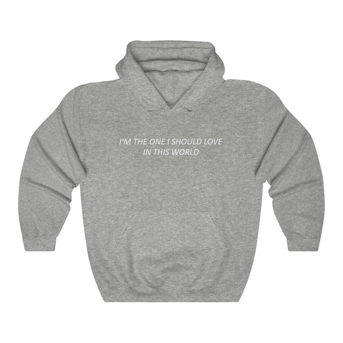 I'm The One I Should Love In This World Hoodie - Trendy Winter Kpop Hoodies - Kpop Hooded Sweater