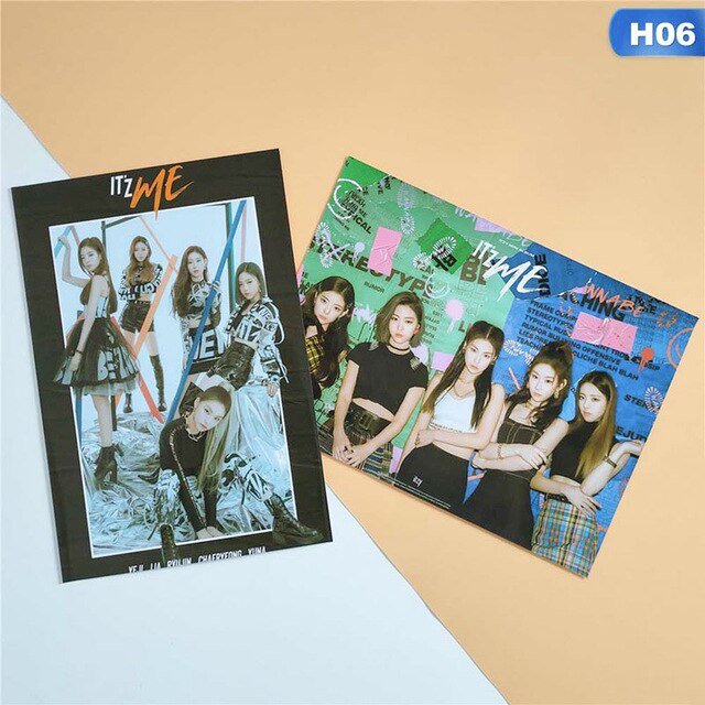 2pcs ITZY Kpop Posters Korean Singers IT'z ME Poster Prints Clear Image Well Hanging Home Decoration