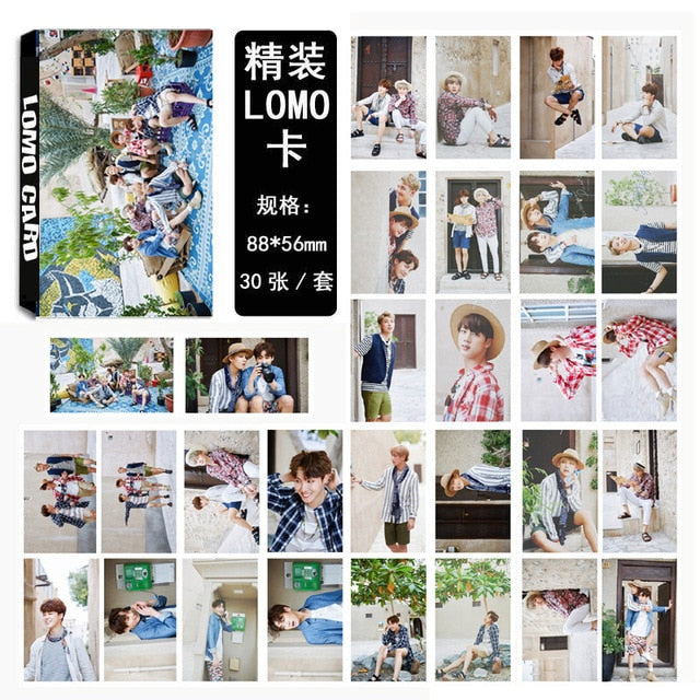 30 Pcs/set KPOP BTS Bangtan Boys WINGS Album Photo Card Collection Photocard Self Made Paper Cards
