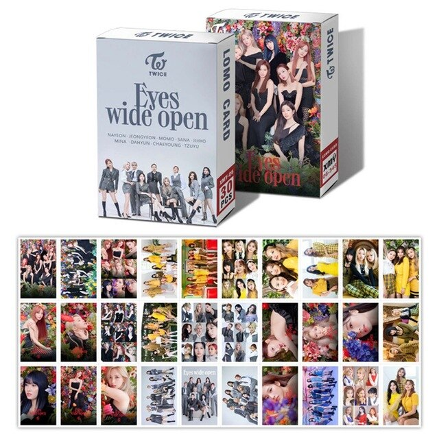 30Pcs/Box Kpop TWICE New Album Eyes Wide Open LOMO Card Photocard Self Made Cards For Fans Collection Stationery