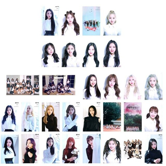 30Pcs/Set KPOP LOONA Girls Team Album Butterfly Photo Card PVC Cards Self Made LOMO Card Photocard
