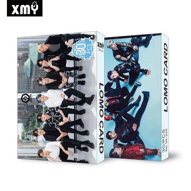 30pcs/set Kpop STRAY KIDS IZONE Blackpink Twice GOT7 Lomo card SEVENTEEN NCT MONSTA X album poster HD photocard K-POP CARDS