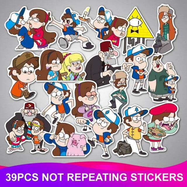 Kpop Newest 39Pcs/Lot Funny Anime Gravity Falls Stickers Waterproof Graffiti Sticker Kids Toy Skateboard Luggage Laptop Car Home Decor Decal that you'll fall in love with. At an affordable price at KPOPSHOP, We sell a variety of 39Pcs/Lot Funny Anime Gravity Falls Stickers Waterproof Graffiti Sticker Kids Toy Skateboard Luggage Laptop Car Home Decor Decal with Free Shipping.