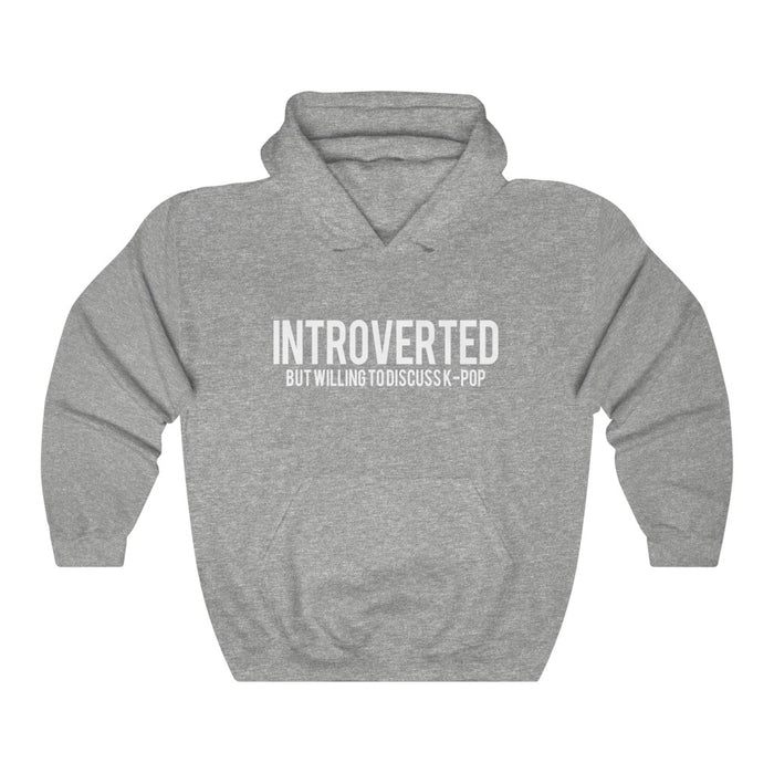 Introverted But Willng To Discuss K-Pop Hoodie - Trendy Winter Kpop Hoodies Kpop Fashion - Kpop Hooded Sweater