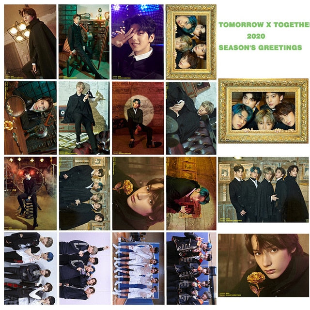 54 Pcs / Set Kpop TXT Album Photo Card Lomo Cards Postcards Decoration Self Made Photo Cards Decoration Supplies Fans Gifts