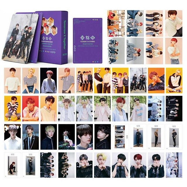 54Pcs/Set KPOP TXT Album Self Made Paper Lomo Card Photo Card Poster HD Photocard Fans Gift Collection