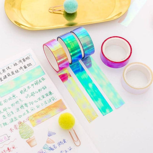 Kpop Newest 6pcs/Lot Set Glitter Foil Pastel Washi Tape Color Gilded Rainbow Kpop Gold Aesthetic Adhesive Holographic Decoration MaskingTape that you'll fall in love with. At an affordable price at KPOPSHOP, We sell a variety of 6pcs/Lot Set Glitter Foil Pastel Washi Tape Color Gilded Rainbow Kpop Gold Aesthetic Adhesive Holographic Decoration MaskingTape with Free Shipping.