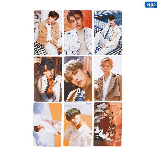 9pcs/set Kpop ATEEZ Photocard Postcard TREASURE EP.FIN ALL TO ACTION Album Photo Card ATEEZ KPOP Lomo Cards New Arrivals