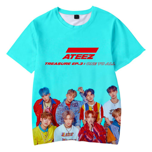 ATEEZ Kpop Korean Team 3D Kids T-shirt Children Boys/Girls 3d Highstreet - Kpopshop