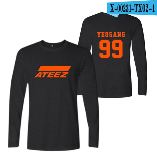 ATEEZ T-shirt Tops New Korean Team  New Style Plus Size Kpop 4XL - Kpopshop