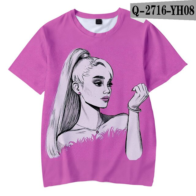 Ariana Grande Child Thank you next boy girl New Kpop Ariana Grande Hot Ladies T-shirt - Kpopshop
