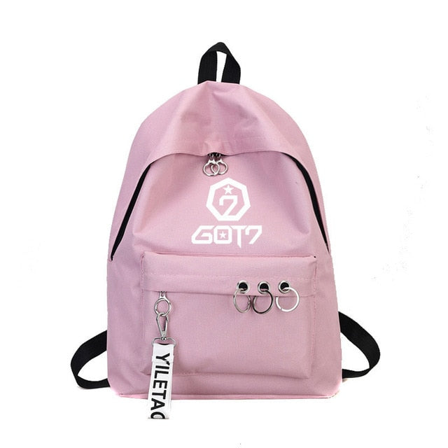 Kpop One Canvas School Travel Bag